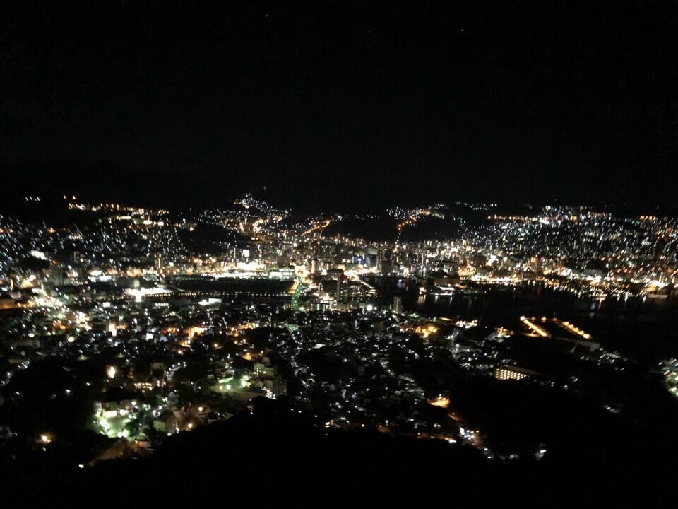 稲佐山からの夜景は絶景
