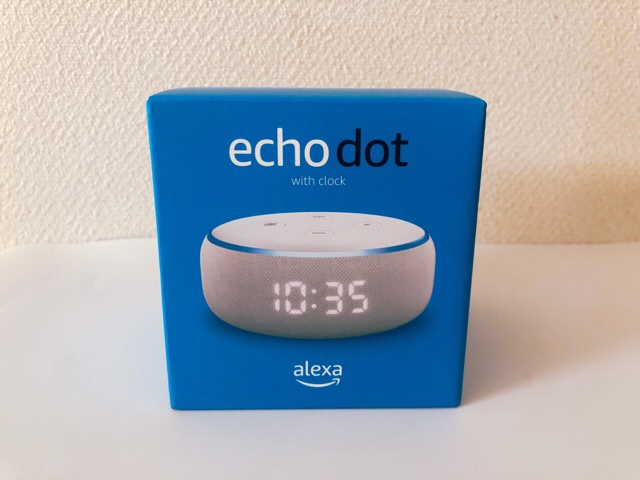 Amazon Echo Dot with clockを開封していく