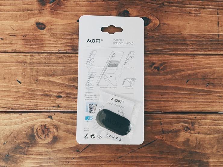 MOFT Xパッケージの背面