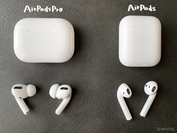AirPodsとAirPods Pro比較