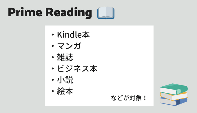 Amazon Prime Readingの対象本