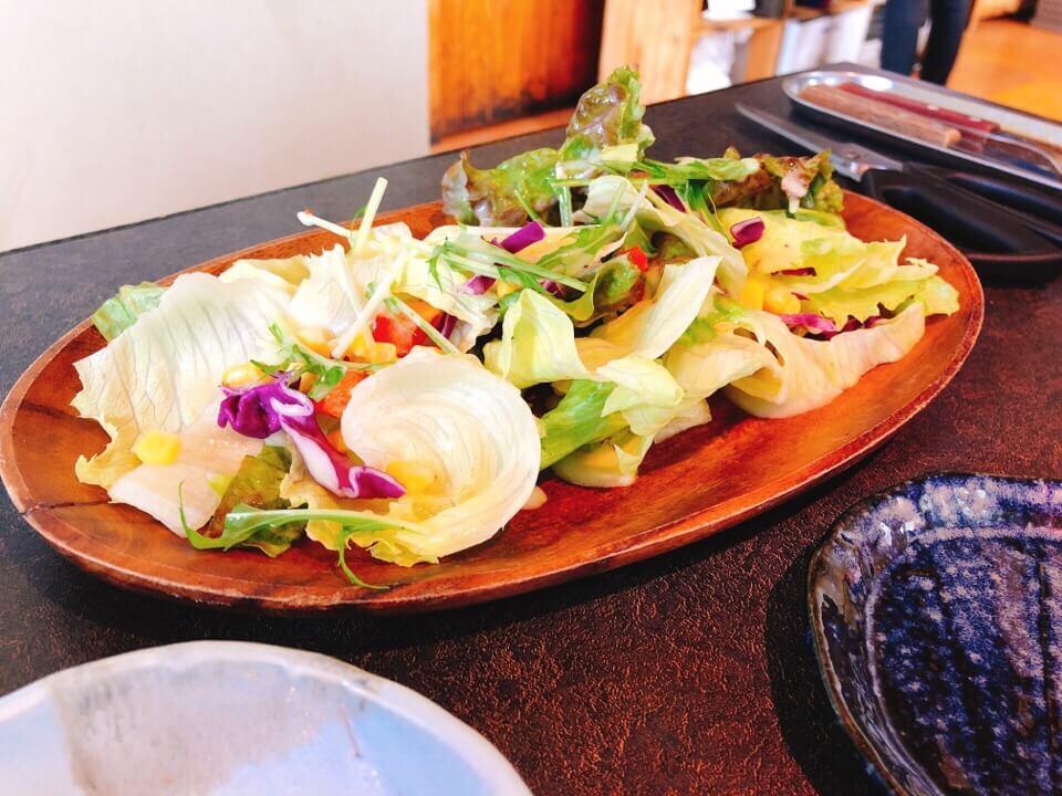 松ランチのサラダ