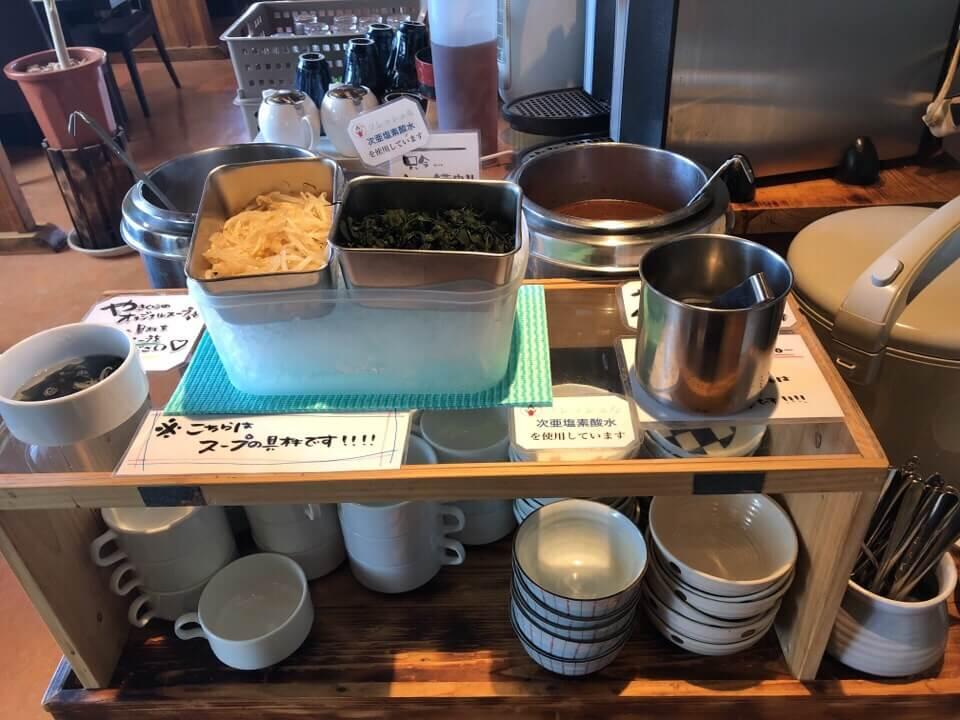 ランチはご飯とスープがおかわり自由