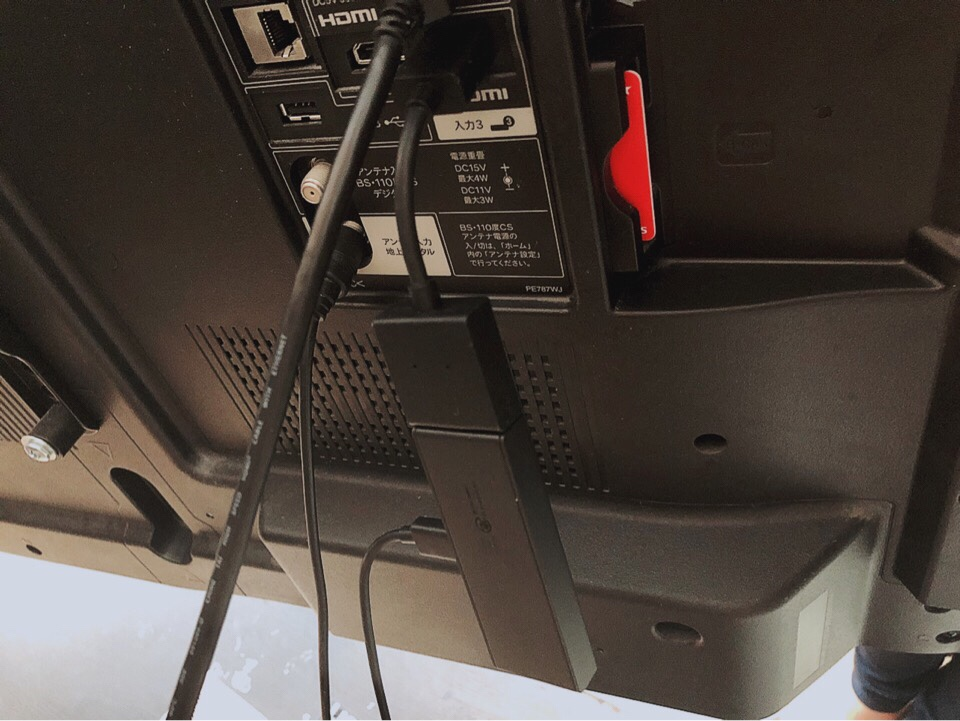 Fire TV StickをHDMI入力ポート3に差し込む