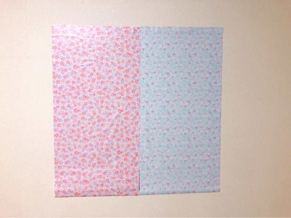 ダイソーの筒状リメイクシート ふんわり桜とはんなり桜を並べてみた