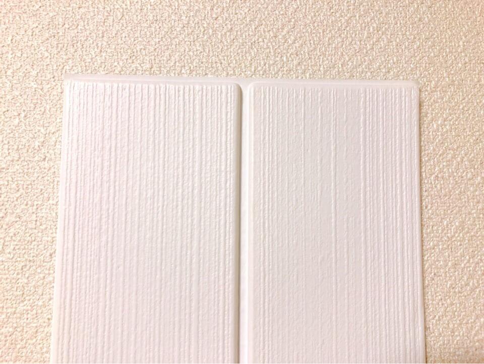ダイソーのクッションシート(木目調)ホワイトを間近で見る