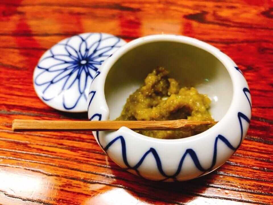 諫早そば処戸隠の天丼セットについてきた柚子胡椒