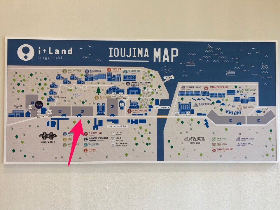 i+Land nagasaki(アイランドナガサキ)P4がプレイキッズランドに1番近い駐車場