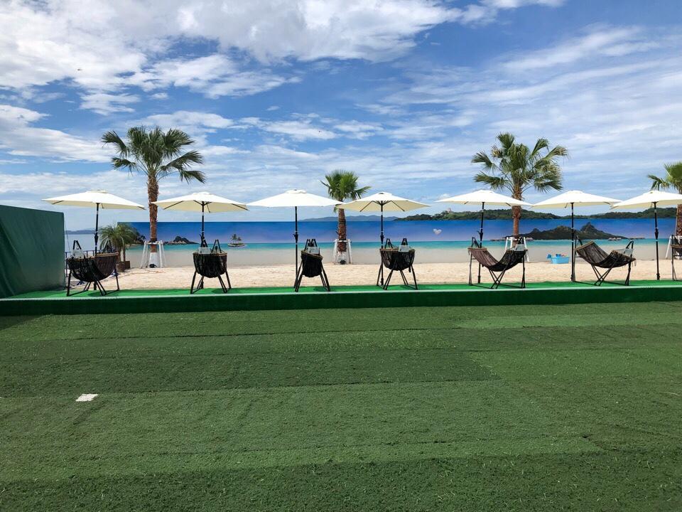 ハウステンボスWAIWAIビーチの有料席