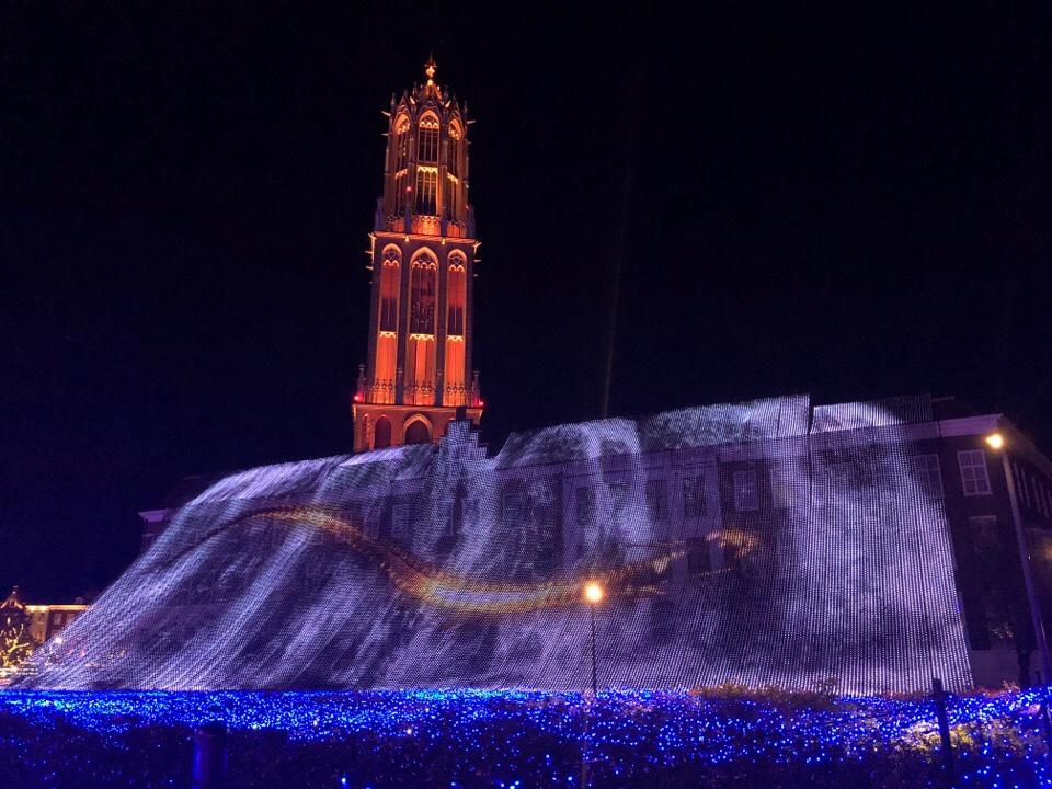 ハウステンボス光の王国「光の滝・ブルーウェーブ」に龍が出てくる!