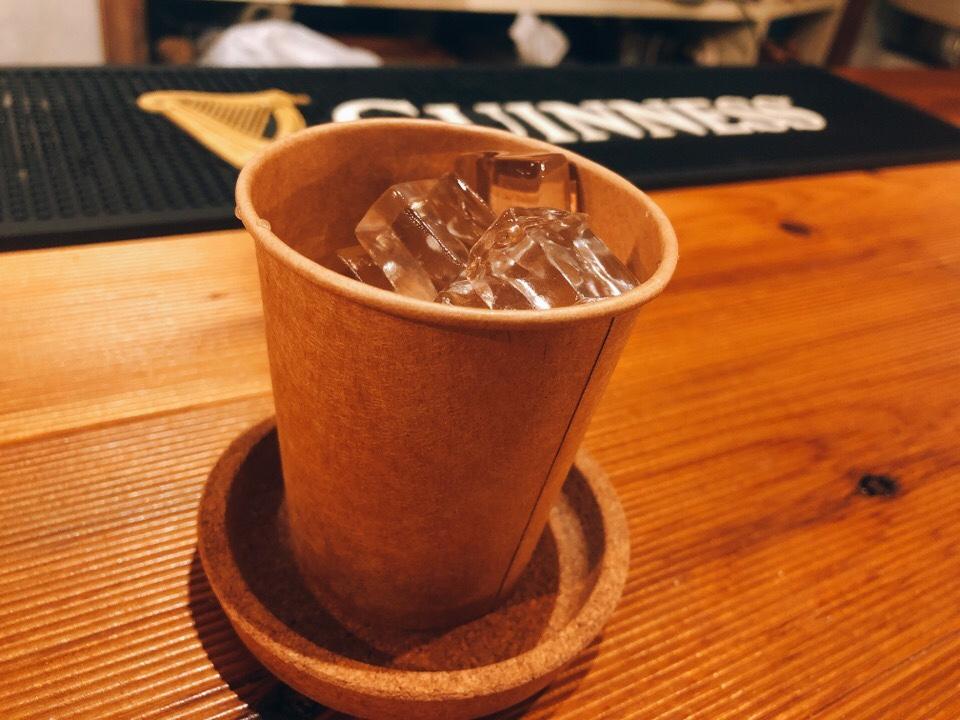 住吉の地下にあるカフェ『cafe&bar MALGOT』のお冷までオシャレ