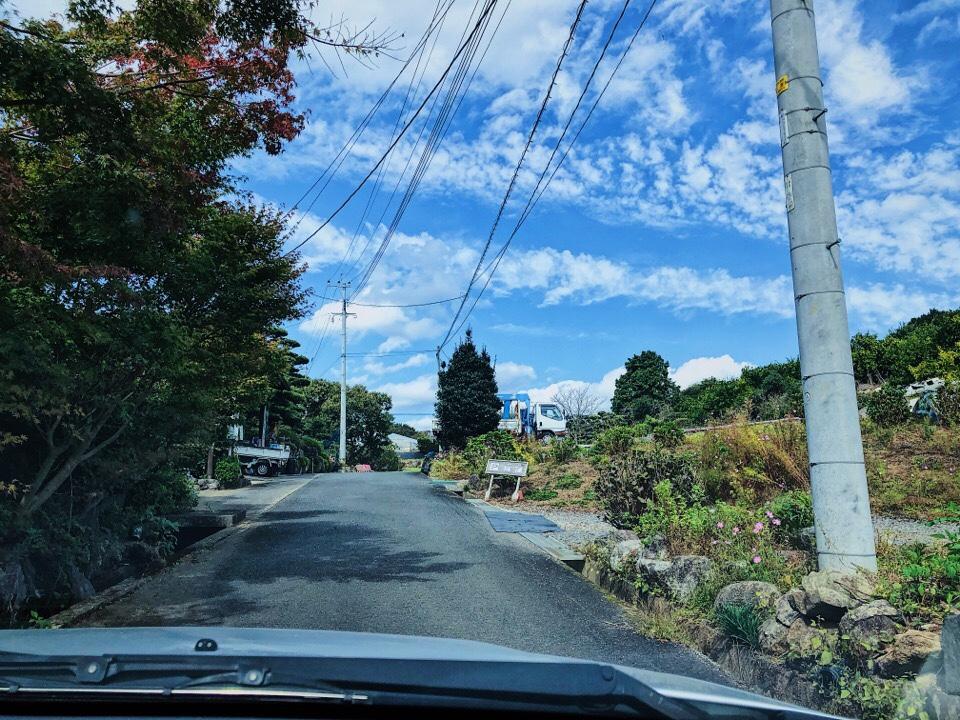 梅蓮への道がかなり狭いので対向車が来ないことを祈る