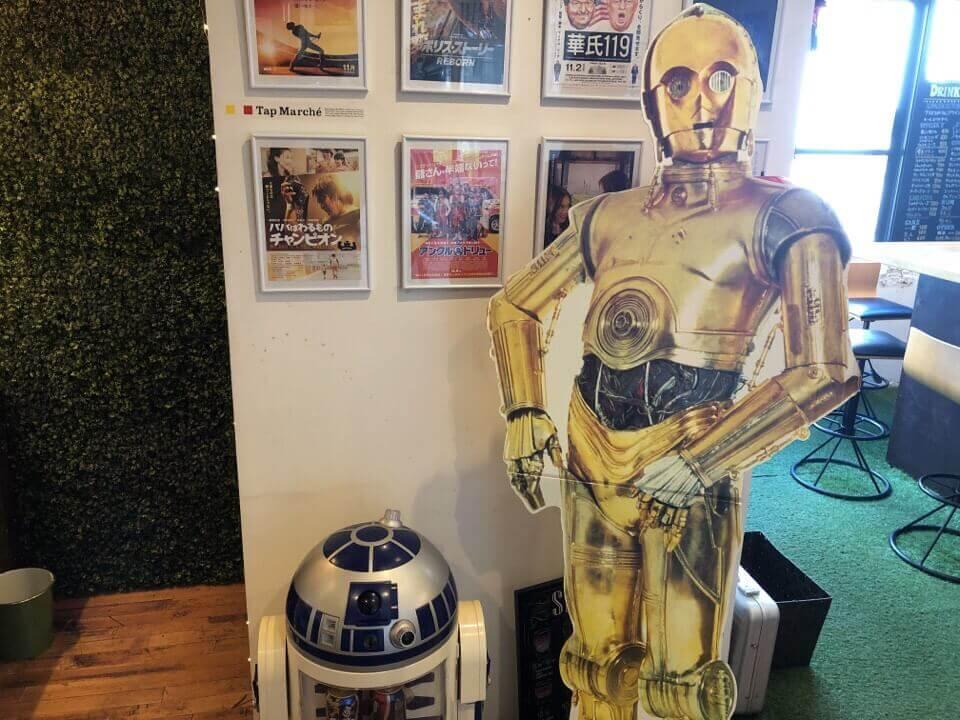住吉azito(アジト)のR2-D2の横にはC-3POがいる