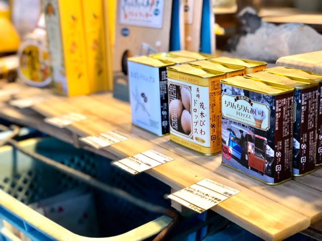 ボーダレスラウンジで販売されている昔ながらのドロップは長崎仕様