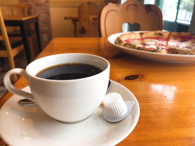 マンマのピッツァのホットコーヒー
