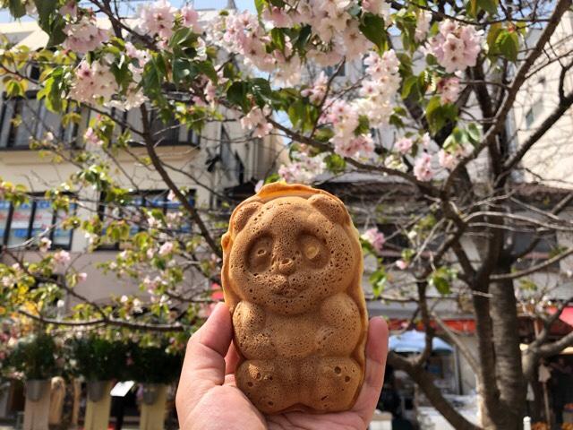 住吉の牛たん専門店 大阪屋の隣にあるパンダ焼き